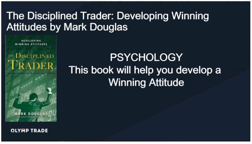 """Livro de negociação - """"The Disciplined Trader Developing Winning Attitudes"""" por Mark Douglas"""